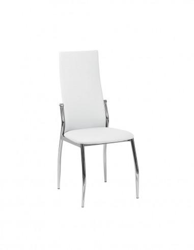 Pack de 4 sillas de comedor polipiel...