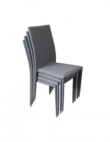 Pack de 4 sillas de comedor apilables...