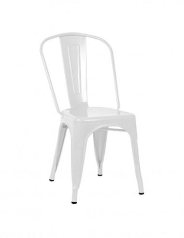 Pack de 4 sillas de comedor metálicas...