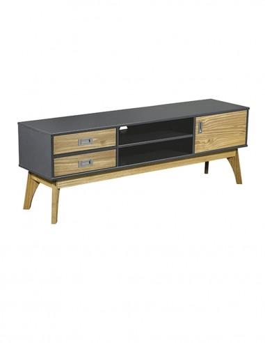 Mueble de Tv en kit roble/pizarra